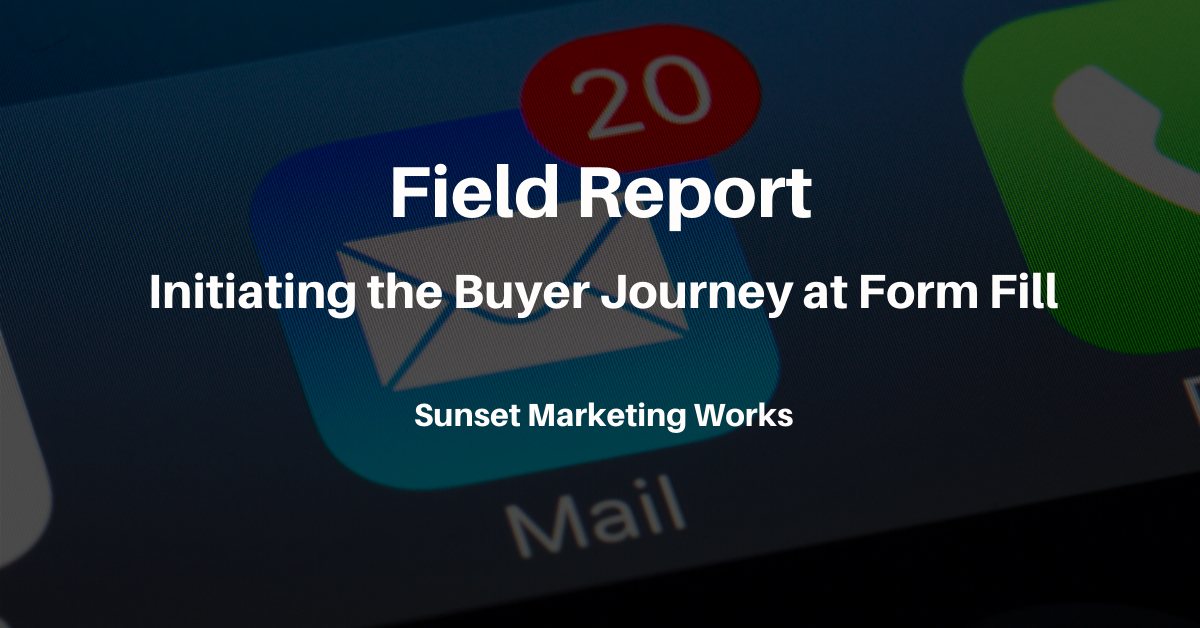 Initiating the Buyer Journey at Form Fill
